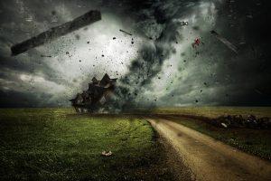 台風の写真